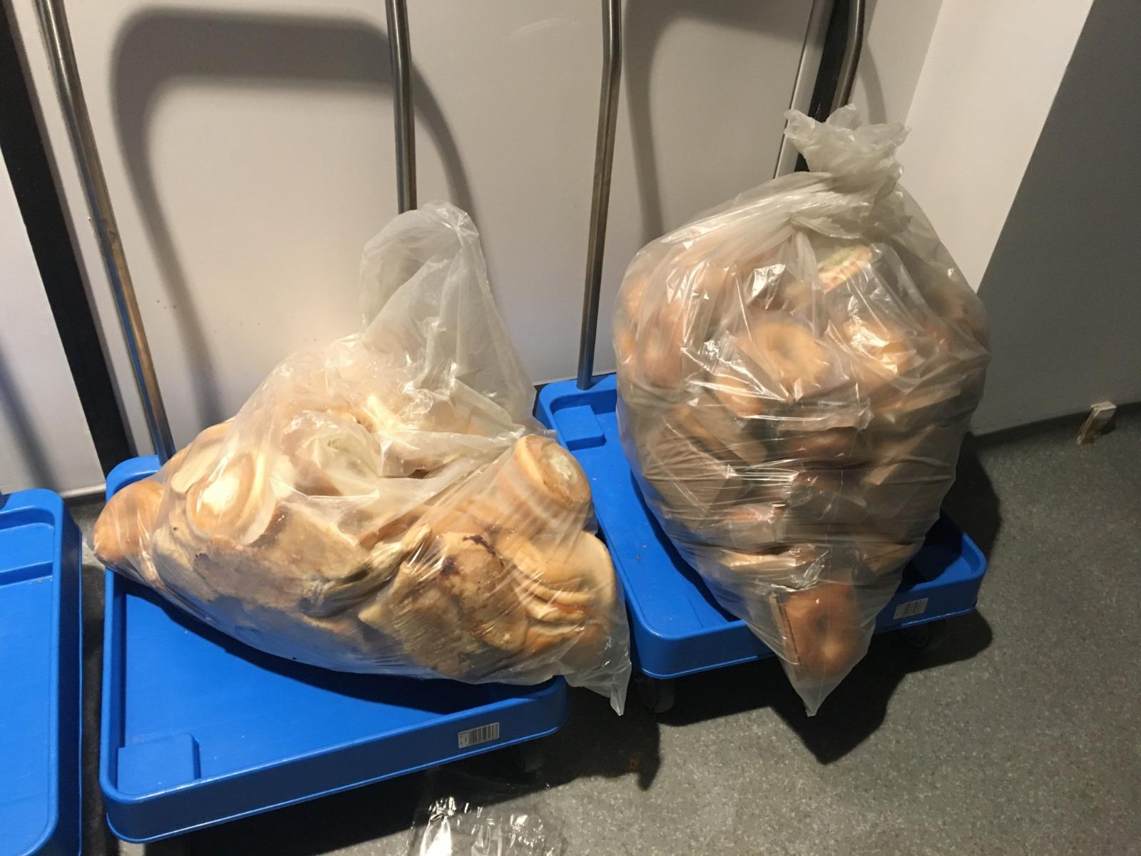 Gâchis du stand de bagels à Wembley