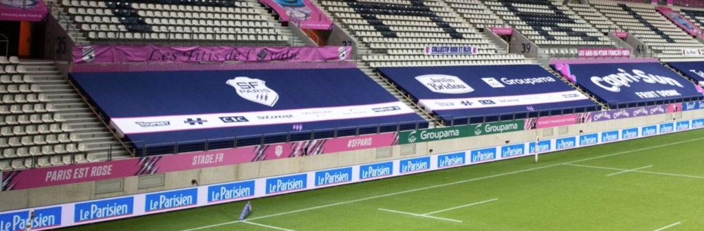 Les bâches partenaires au stade Jean Bouin