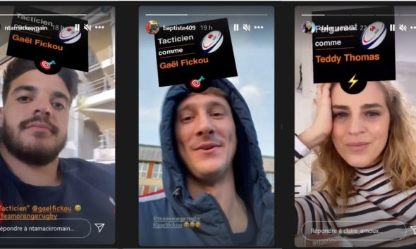 Le filtre Instagram d'Orange Rugby et du XV de France