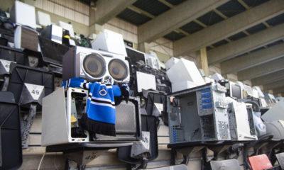 Action de sensibilisation au recyclage à destination des fans de football du pays