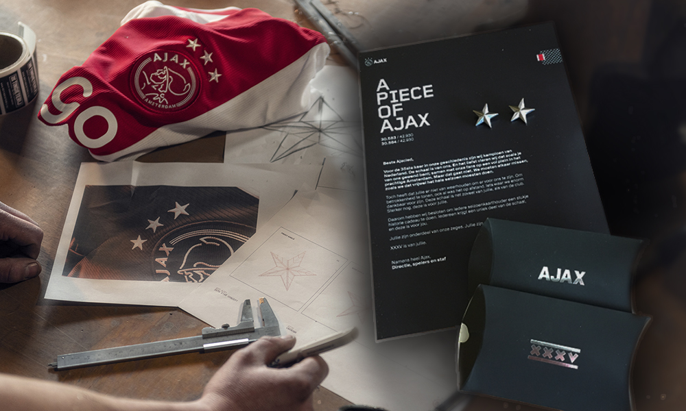 L'Ajax a fondu son trophée pour le partagé à ses fans abonnés.