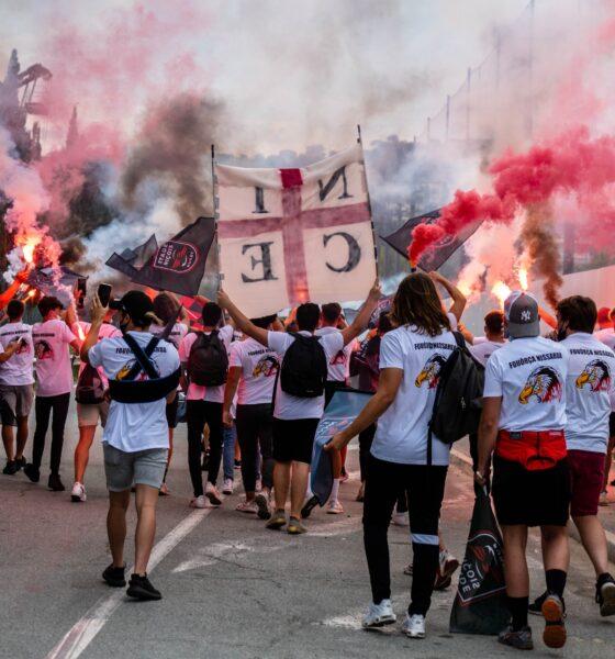 Arrivée des joueurs du Stade Niçois