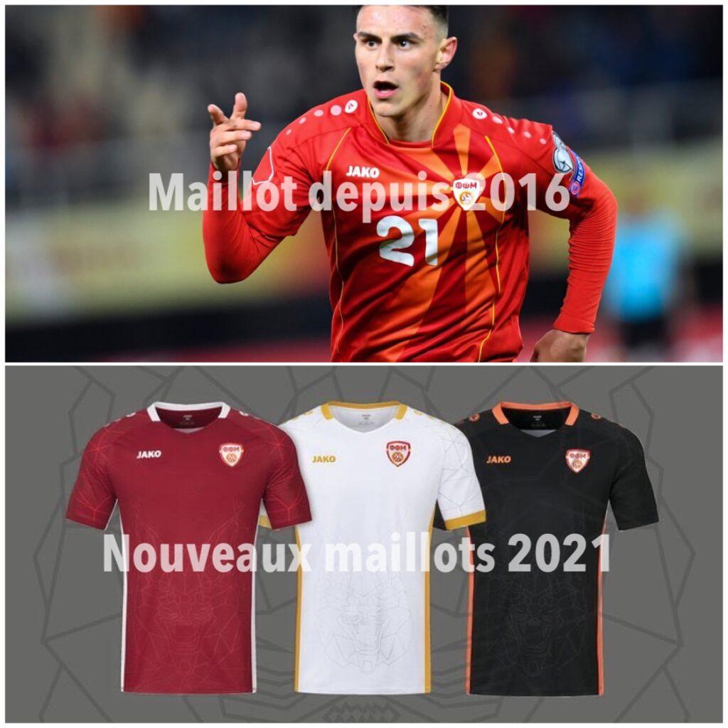 Les anciens et nouveaux maillots de la Macédoine du Nord