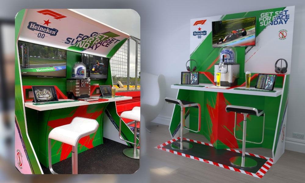 activation pit wall bar par heineken en Formule 1