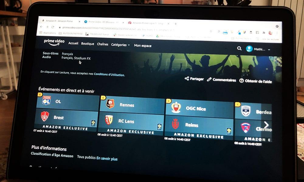 Stadium FX, l'option ambiance stade par la chaine Le Pass Ligue 1 sur Amazon Prime Video