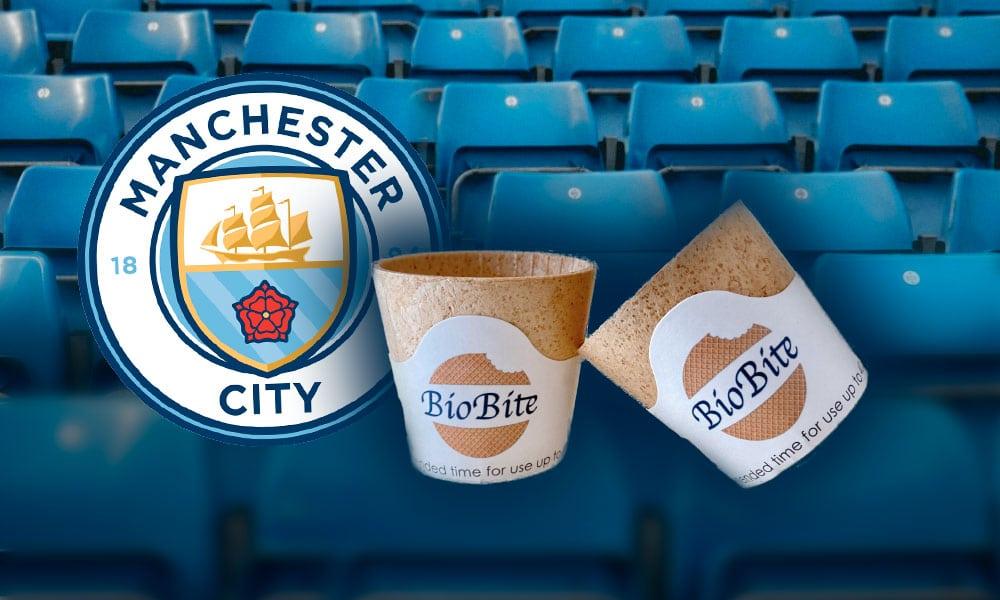 Une tasse de café comestible à Manchester City