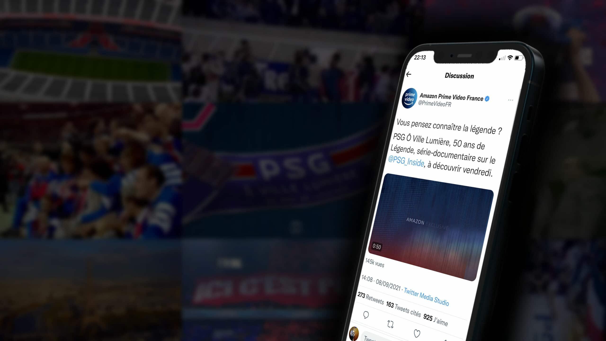 Amazon Prime Vidéo a piégé les fans du PSG sur Twitter avec une fausse bande