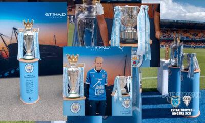 Un trophée d'un autre club présenté aux supporters de l'ESTAC